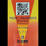 Yngwie Malmsteen's Rising Force New Fillmore F22 Poster