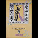 Carlos Santana New Fillmore F26 Poster