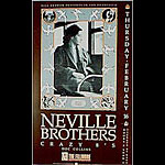 Neville Brothers 1989 Fillmore F76 Poster