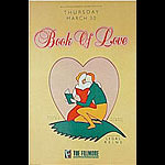 Book Of Love New Fillmore Poster F84