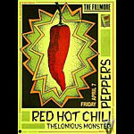 Red Hot Chili Peppers New Fillmore Poster F87