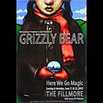 Grizzly Bear New Fillmore F1018 Poster