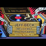 Jeff Beck New Fillmore F1095 Poster