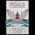 Foals New Fillmore F1210 Poster