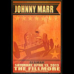 Johnny Marr New Fillmore Poster F1212