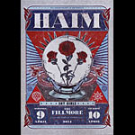 Haim New Fillmore Poster F1260