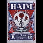 Haim 2014 Fillmore F1260 Poster