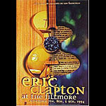 Eric Clapton New Fillmore F169 Poster