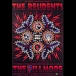 The Residents New Fillmore Poster F346