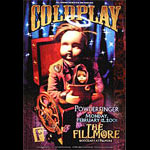 Coldplay New Fillmore F438 Poster