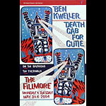 Death Cab For Cutie New Fillmore Poster F616