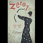 Zero 7 New Fillmore Poster F801A