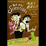 We Are Scientists New Fillmore Poster F810