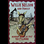 Willie Nelson and Family New Fillmore Poster F859