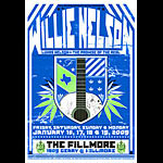 Willie Nelson New Fillmore Poster F984b