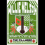 Willie Nelson New Fillmore Poster F984g