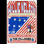 Willie Nelson New Fillmore Poster F985
