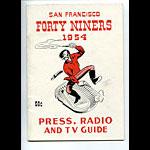 1954 San Francisco 49ers Media Guide