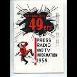 1959 San Francisco 49ers Media Guide