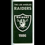 1986 Los Angeles Raiders  Media Guide