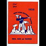 1956 New York Giants Media Guide