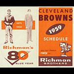 Cleveland Browns 1959 Pocket Football Schedule