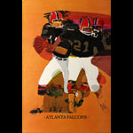 Don Weller Atlanta Falcons 1968 NFL Football Poster
