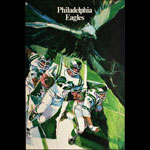 M Bartell Philadelphia Eagles 1968 NFL Football Poster