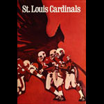 St. Louis Cardinals 1968 NFL Football Poster