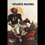 Terry Smith Atlanta Falcons 1967 NFL Football Poster