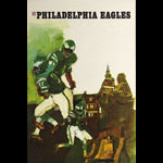 Terry Smith Philadelphia Eagles 1967 NFL Football Poster
