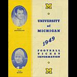 1949 University of Michigan Football Ticket Information Brochure