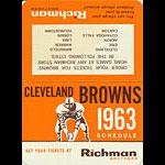 1963 Cleveland Browns Pocket Schedule