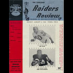 1963 Oakland Raiders vs Boston (New England) Patriots Pro Football Program