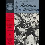1964 Oakland Raiders vs Bills Pro Football Program
