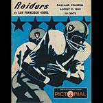 1969 Oakland Raiders vs San Francisco 49ers Pro Football Program