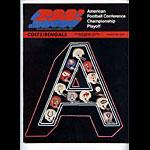 1970 AFC Playoff Colts vs Bengals Program Program