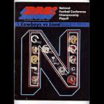 1970 NFC Playoff Cowboys vs Lions Program Program