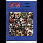 1972 San Francisco 49ers vs Oakland Raiders Program Program
