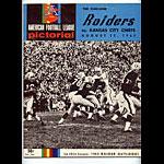 1965 Oakland Raiders vs Kansas City Chiefs Program Program