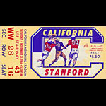 1964 Cal vs Stanford Big Game Football Ticket
