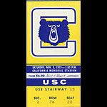 1973 Cal vs USC Football Ticket