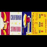 1952 Cal vs Stanford Big Game Football Ticket