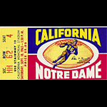 1965 Cal vs Notre Dame Football Ticket