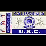 1967 Cal vs USC Football Ticket