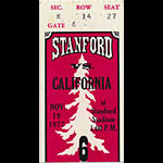 1977 Stanford vs Cal Big Game Football Ticket