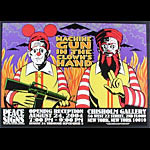 Chuck Sperry - Firehouse Machine Gun In The Clown's Hand - Peace Signs - Anti-War Movement Exhibition Poster