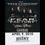Fear Factory Fear Campaign Tour 2010 Flyer