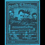 Good Charlotte The Young and the Hopeless Album Release World Tour 2003 Flyer