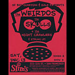 The Weirdos and The Skulls Flyer
